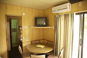The Living area in our standard Cabin