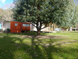 The outside area of our on site Caravans